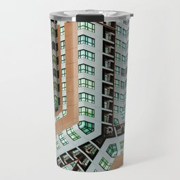 Graphic design futuristic residential Travel Mug