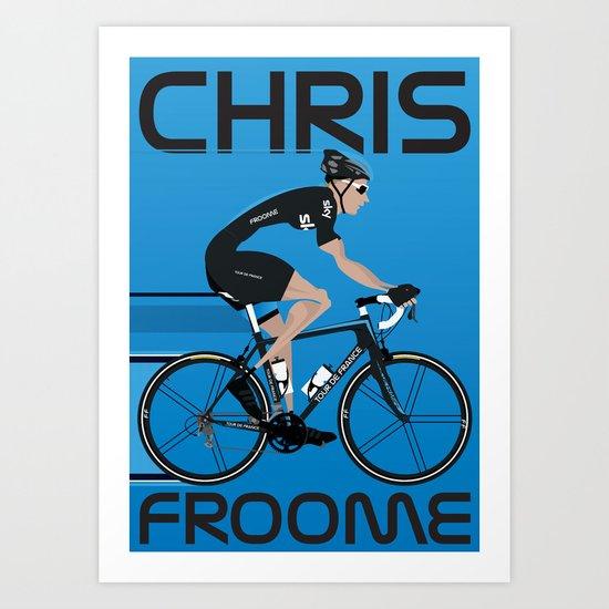 Chris Froome Art Print