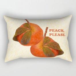 Peach, Please Rectangular Pillow