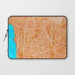 Beirut, Lebanon, Gold, Blue, City, Map Laptop Sleeve