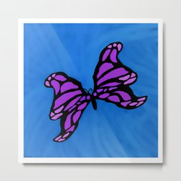 Purple Butterfly Metal Print