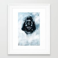 dark side Framed Art Prints featuring Dark Side by ErDavid
