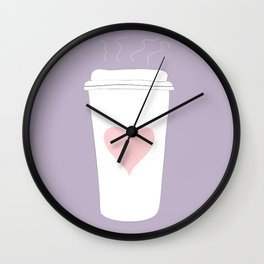 Ode To Coffee Wall Clock
