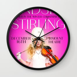 LINDSEY STIRLING WARMER IN THE WINTER CHRISTMAS TOUR DATES 2019 MAWAR Wall Clock