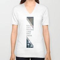 hawaiian V-neck T-shirts featuring Hawaiian Islands by Synergy