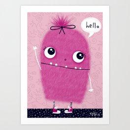 Hi, I'm Pinkie Art Print