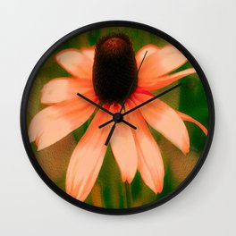 Vibrant Orange Coneflower Wall Clock
