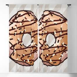 Toffee and Chocolate Donut Blackout Curtain