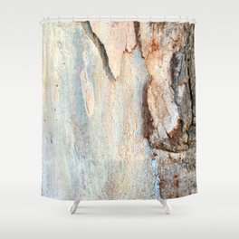 Eucalyptus tree bark and wood Shower Curtain