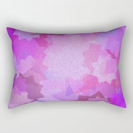 Nine Pointed Star - Pink Rectangular Pillow