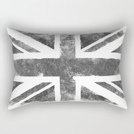 Grey UK Flag Rectangular Pillow