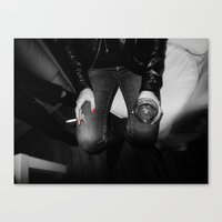 vodka Canvas Prints featuring vodka & cigarette by Mr. Messy