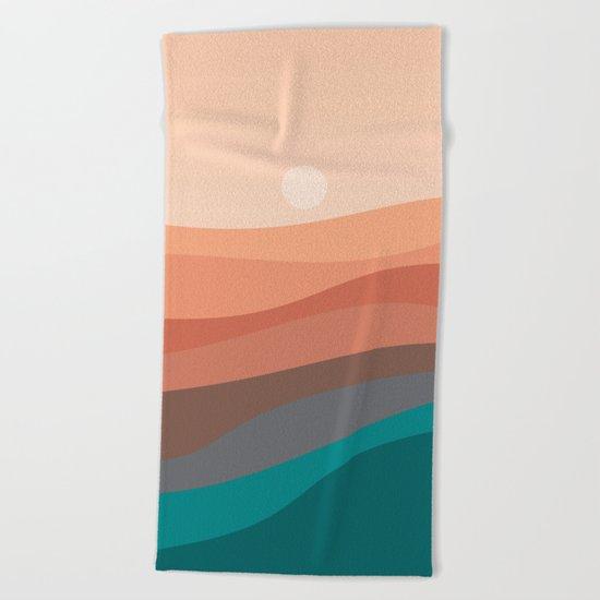Landscape NC 03 Beach Towel