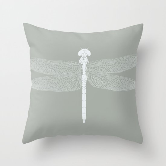 dragonfly v4 Throw Pillow