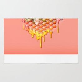valentines heart, bumblebee, beehive Rug
