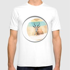 The Mirage MEDIUM White Mens Fitted Tee