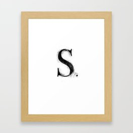 S. - Distressed Initial Framed Art Print