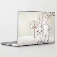 bunnies Laptop & iPad Skins featuring Bunnies by Arianna Usai