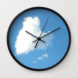 Heart Shaped Cloud Wall Clock