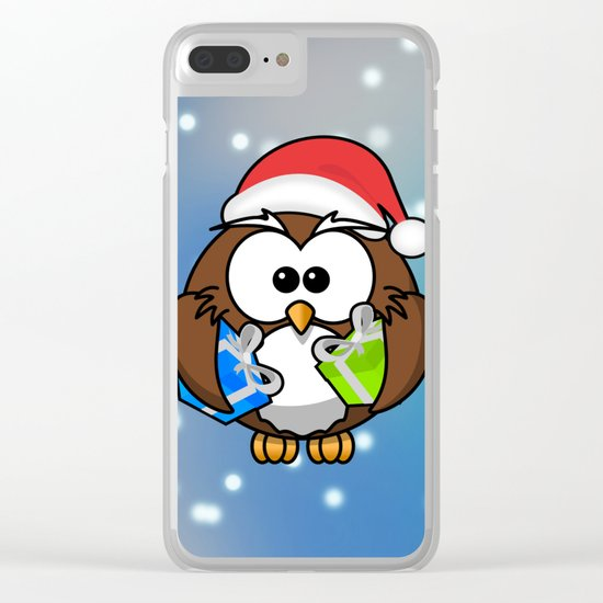 Christmasowl Clear iPhone Case
