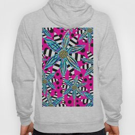 Pinwheel Flowers on Hot Pink Hoody