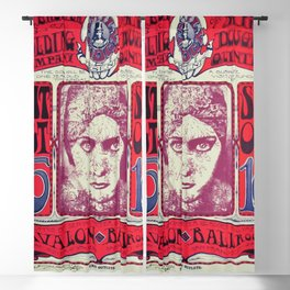 1966 Avalon Ballroom Big Brother and the Holding Company Vintage Concert Advertising Poster Blackout Curtain