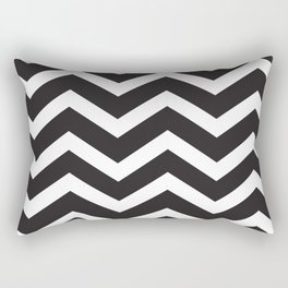 Black & White Chevron Rectangular Pillow