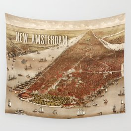 New Amsterdam - 1880 Wall Tapestry