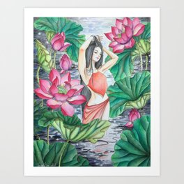 Lotus rising Art Print