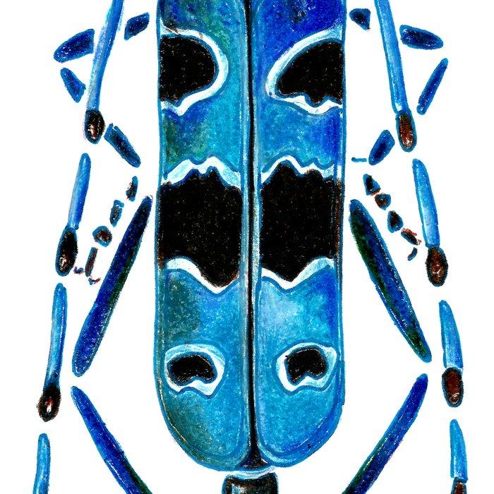 Beetle 09 blue Leggings