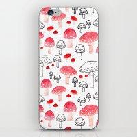 mushroom iPhone & iPod Skins featuring mushroom by viktoria.rodek
