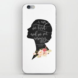 I am no Bird - Charlotte Bronte's Jane Eyre iPhone Skin