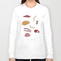 vegetarian Long Sleeve T-shirts featuring I AM A VEGETARIAN by Anna Wanda Gogusey