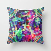 carnival Throw Pillows featuring Carnival by Truly Juel