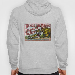 1938 Ringling Brothers and Barnum & Bailey Circus Tiger Act - Greatest Show on Earth Circus Poster Hoody
