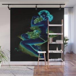 Gil Elvgren Pin Up Girl Dark Wall Mural
