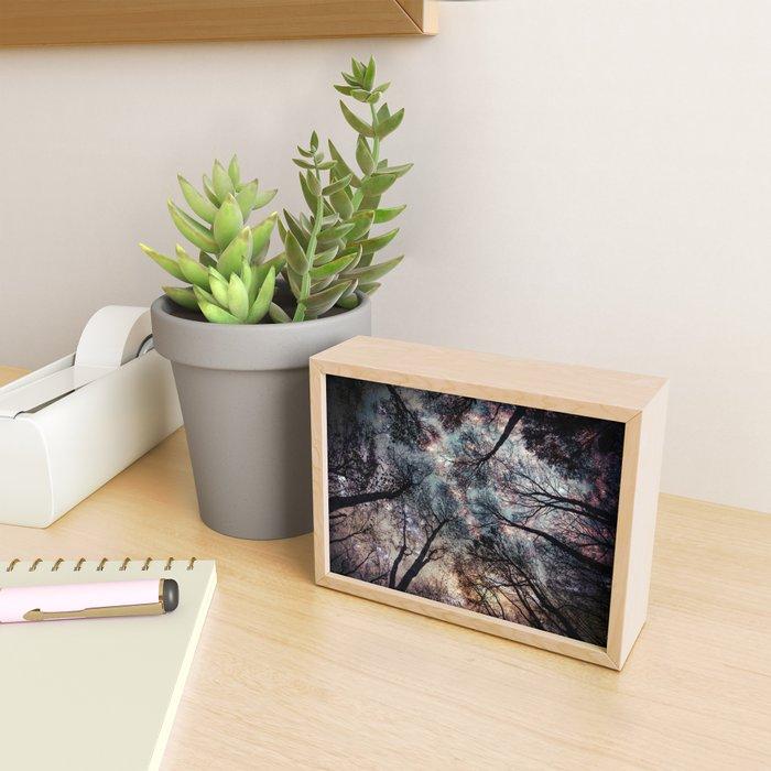 Starry Sky in the Forest Framed Mini Art Print