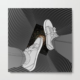 FALLING INTO THE SPACE Metal Print