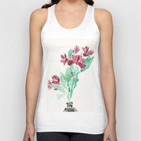 peru Tank Tops featuring Peru Lilies by Kate Havekost Fine Art