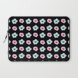 Sepia and pink flowers -bloom,blossom,petal,floral,leaves,flor,garden,nature,plant. Laptop Sleeve