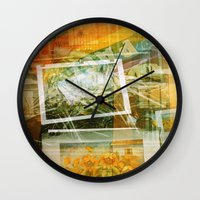 lee pace Wall Clocks featuring Pace by Angela Bruno