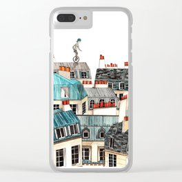 French unicycle Clear iPhone Case