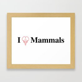 I Heart Mammals Framed Art Print
