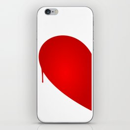 Half Heart Woman iPhone Skin