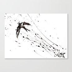 L'oiseau inconnu Canvas Print