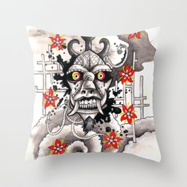 ONI FACE Throw Pillow