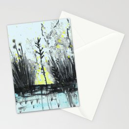 Cattails in the grass Stationery Cards