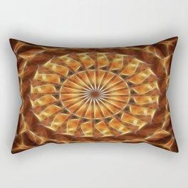 Brown Tan Gold Kaleidoscope Art 2 Rectangular Pillow
