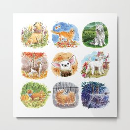 A Collection of Canines Metal Print