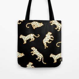 Leopard at Night Tote Bag